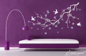 Chic Interior Room Decorating Ideas With Cherry Blossom Wall Decals For Cherry Blossom Decal Wall Art Japanese Cherry Blosso Home And Deco Deco Chambre De Reve