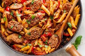 sausage pasta skillet recipe eatwell101
