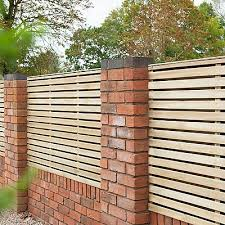 Forest 6 X 4 Pressure Treated Contemporary Double Slatted Fence Panel 1 8m X 1 2m Fencestore