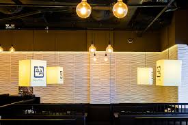 3d wall panels in gyu kaku restaurant