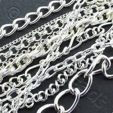 chain silver plated mixed 50g bag