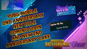 PUBG MOBILE NEW 2ND ANNIVERSARY TITLE ...