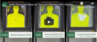 bullet resistant glass or security
