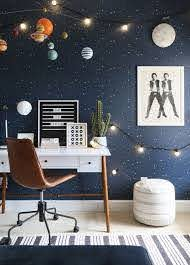 Outer Space Bedroom For A Kid Or Tween West Elm Space Themed Bedroom Outer Space Room Outer Space Bedroom