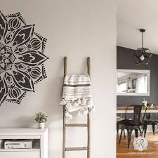 Large Mandala Wall Art Stencils For Painting Boho Bedroom Mural Design Royal Design Studio Stencils