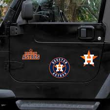 Houston Astros Wincraft 3 Pack Car Magnets