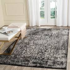 mistana elson blackgray area rug rug