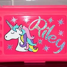 Personalized Pencil Box Unicorn Pencil Box Super Hero Crayon Etsy