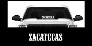 Amazon Com Xpin Graphics Zacatecas Mexico Nopaleros 23 Window Decal Sticker Windshield Banner Automotive