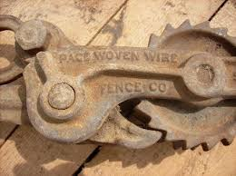 Antique Pace Woven Barbed Wire Ratchet Fence Stretcher W 1895 Patent Date