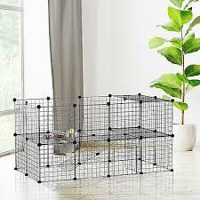 Small Animals Cage Diy Pet Playpen Metal Wire Fence Indoor Outdoor 36 Panel Ebay
