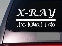 Amazon Com Ez Stik X Ray Sticker Decale288 X Ray Tech Radiology Radiologist Er Hospital Film Arts Crafts Sewing