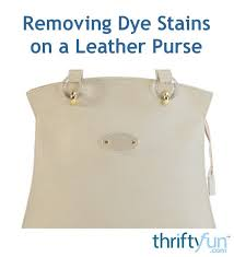 removing dye stains on a leather purse