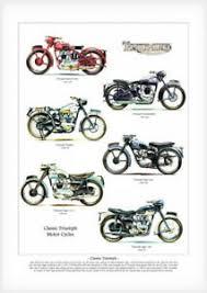 triumph motor cycles art print a3