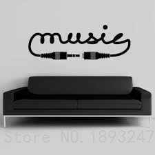 Find More Wall Stickers Information About Music Vinyl Wall Decal New Creative Music Song Sound Notes Melody Jazz R Music Room Decor Music Room Music Wall Decal