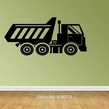 Dump Truck Silhouette Wall Art Stickers Decal Home Diy Decoration Wall Mural Removable Bedroom Decor Wall Stickers Wall Sticker Decorative Wall Stickerswall Art Stickers Aliexpress