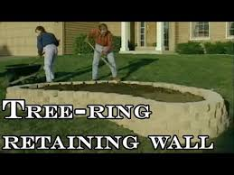 how to build tree ring retaining wall