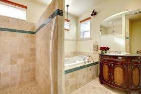 walls go best with light brown tile