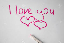 l love you hand written by colored pen