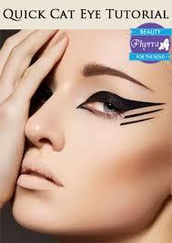 quick cat eye makeup tutorial video