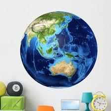 3d Rendering Planet Earth Wall Decal Design 19 Wallmonkeys Com