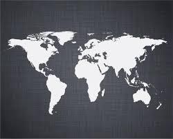 White World Map Wall Decal Wallmonkeys Com