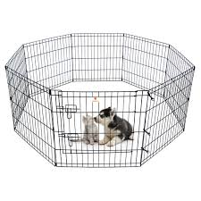 Peekaboo Dog Pen Pet Playpen Dog Fence Indoor Foldable Metal Wire Exercise Pen Puppy Play Yard Pet Enclosure Outdoor For Small Dogs Kittens Rabbits 8 Panels 24