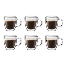 bodum bistro mug double wall glass 0