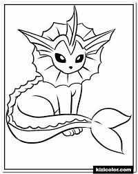 Vaporeon Eevee Pokemon Free Printable Coloring Pages For