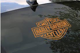 Harley Davidson Script Windshield Or Rear Window Decal Sticker Emblem Motorcycle