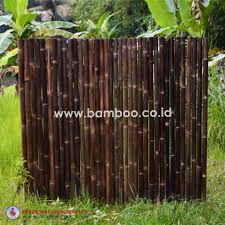 Black Full Round Roll Bamboo Fence With Stainless Steel Bamboo Fence Bamboo Panels Black Bamboo
