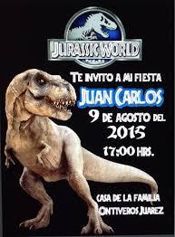 Dinosaurios Jurassic World 10 Invitaciones Personalizadas 150 00 En Mercado Libre