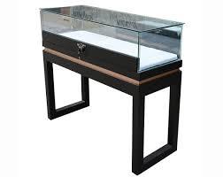 lockable glass display cabinet floor