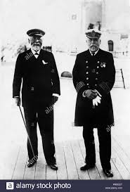the commander of the Titanic Edward Smith and the ship's builder, 1912  Stock Photo - Alamy