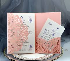 Compre Tarjetas De Invitacion De La Boda Kits De Flores De