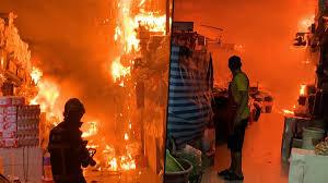 วอดหลายแผง! ไฟไหม้ตลาดยิ่งเจริญ ร้านทองโดนหนักสุด เร่งหาต้นเพลิง