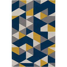 joan fulton navy blue and yellow and