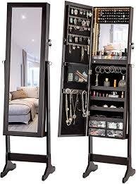 jewelry cabinet standing mirror makeup