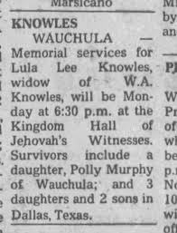 Polly Murphy? Lacey Mathis-Corbin's grandmother? - Newspapers.com