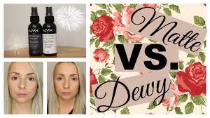 matte vs dewy makeup setting sprays