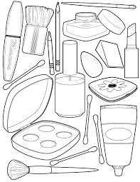 free printable makeup coloring pages at