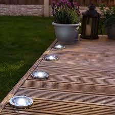 solar decking lights stainless steel