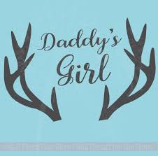 Daddy S Girl Antlers Wall Decals Vinyl Lettering Stickers Girl Nursery Decor Art