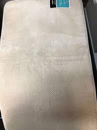 memory foam bath mat blue 20 x34