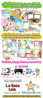 Kit Imprimible La Vaca Lola Candy Bar Fiesta Personalizada