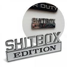 The Original Shitbox Edition Fender Emblem For Cars Trucks And Vans Johnnylawmotors Com
