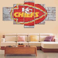 Wall Art In Kansas City Chiefs Canvas University Design Map State Skyline Vamosrayos