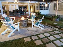 how to lay a paver patio for a firepit