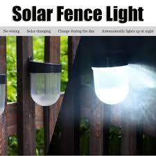 Led Solar Fence Light Waterproof Solar Wall Lamp For Outdoor Garden Yard Pathway Lazada Ph
