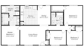 modern design 4 bedroom house floor